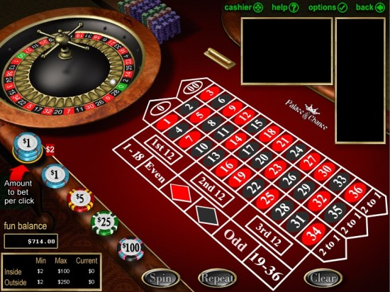 palace of chance roulette