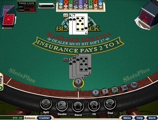 slots plus blackjack