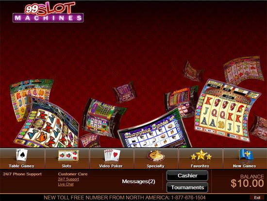99 slot machines lobby