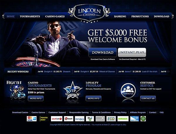 Lincoln Casino No Deposit Codes