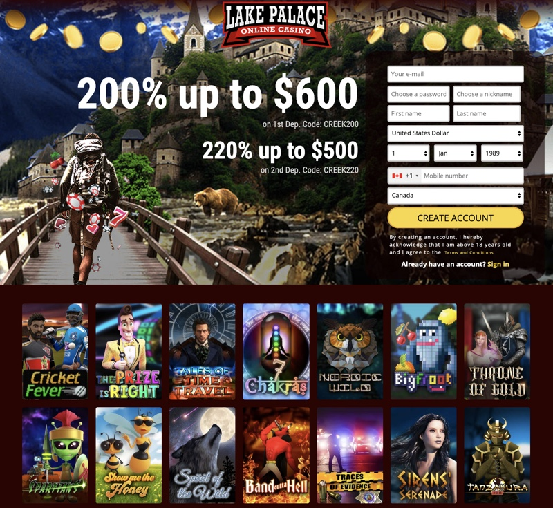 lake palace casino no deposit bonus codes